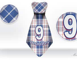 #46 for Baby Boy Milestone Tie Stickers by makic90
