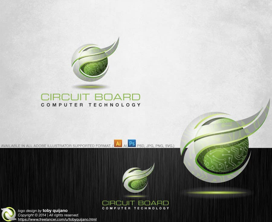 Entry #38 by tobyquijano for 3D Logo-Design of a Computer Circuit ...