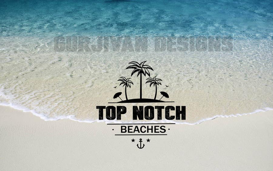 Contest Entry 4 For Top Notch Beaches Mockup Logo Design