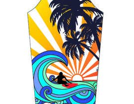 #10 for Illustrate multiple beach & surf themed tattoos for t-shirt by aluaabdramanova