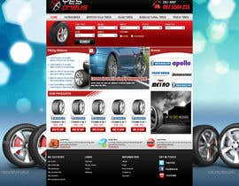 #28 para Website Design for Tyres por tania06