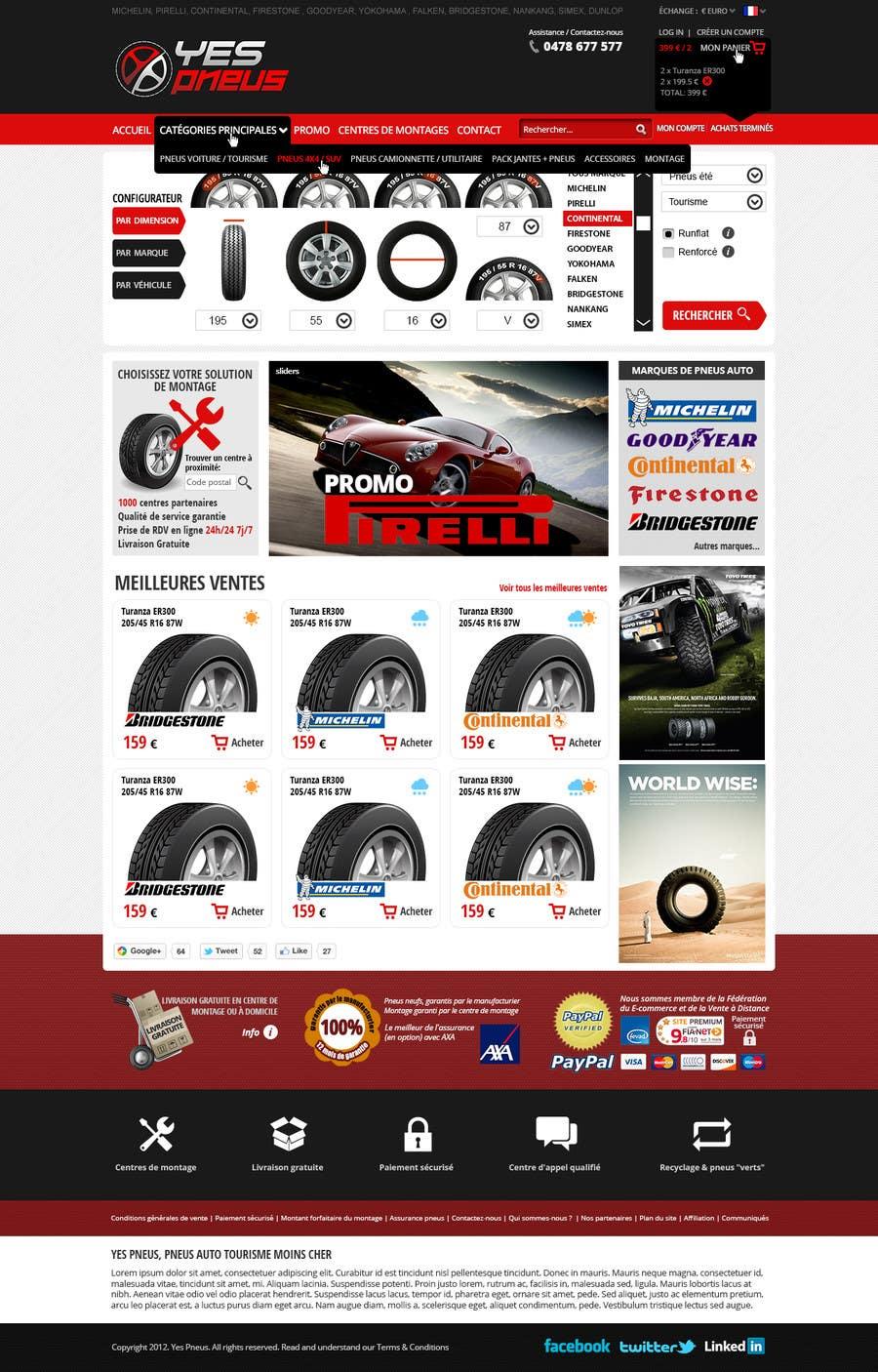 #12 for Website Design for Tyres by hipnotyka