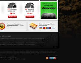 nº 33 pour Website Design for Tyres par creator9