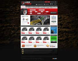nº 36 pour Website Design for Tyres par creator9