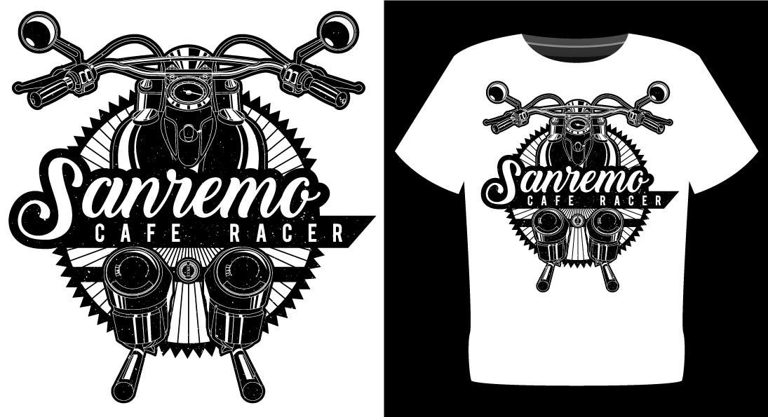 Entry 17 By Totemgraphics For Sanremo Cafe Racer T Shirt Design Freelancer