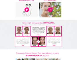 #28 for MODERN AND BEAUTIFUL LANDING PAGE NEEDED FOR BEAUTY COMPANY *URGENT* by nsrn7