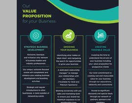 #59 for Design a Value Proposition Statement Flyer by chandrabhushan88