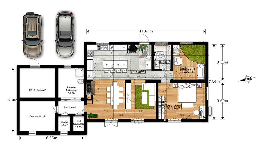 Top entries update floor plan in existing family home for Floor plans for existing homes