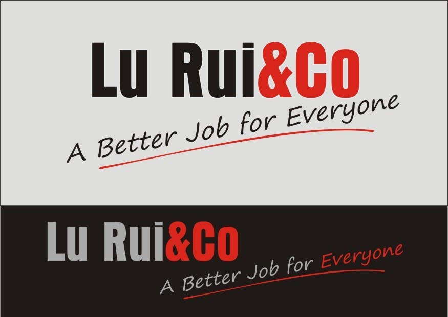Inscrição nº                                         17                                      do Concurso para                                         Logo Design for Lu Rui & Co: A Better Job for Everyone