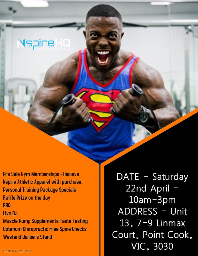 Entry #2 by demonsalvitor90 for Flyer design for gym grand