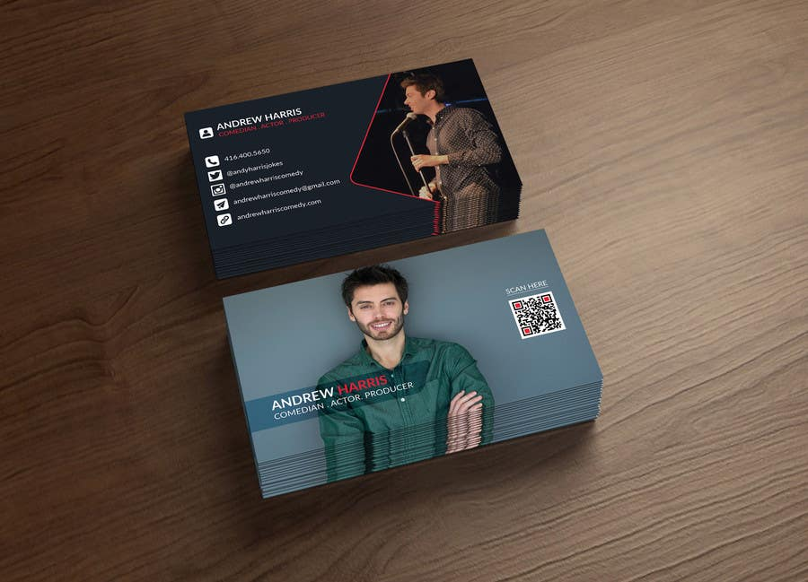 Entry #33 by SubheSaadik for Comedy/Acting Business Cards | Freelancer