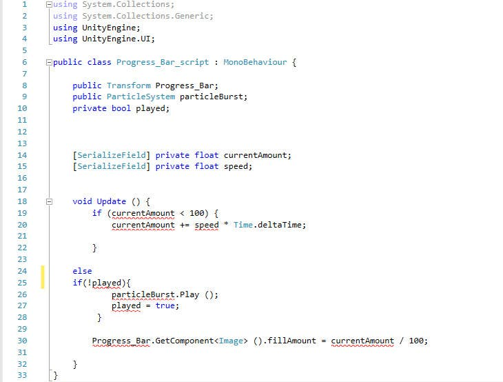 Entry #4 by faustxp for A few lines of C# code for a Unity 5 5