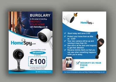 #19 for Design a two side A5 Flyer for home security installation company by DigitalArtBrain