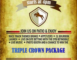 #18 for 11x17 Graphic for Kentucky Derby Party by DhrubaBanerjee11