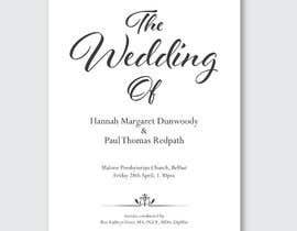 #7 for Order of Service - Wedding Design by felixdidiw