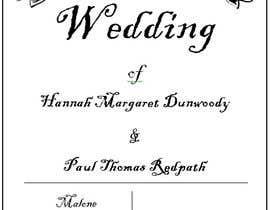 #6 for Order of Service - Wedding Design by mymyrahnoor
