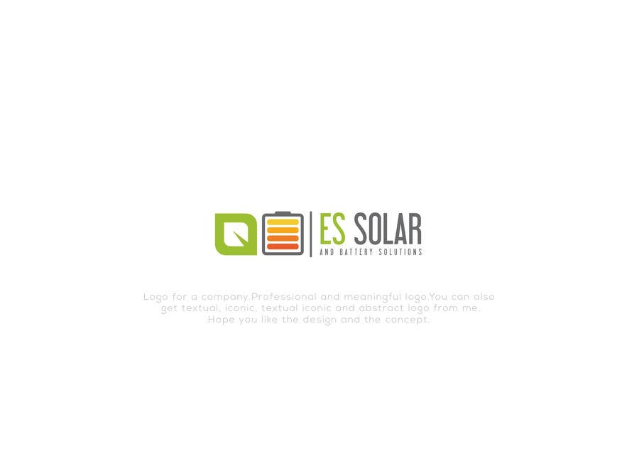 Contest Entry #158 for Logo for business - ES Solar and Battery Solutions