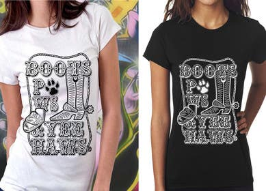 #5 for Women and Dog t-shirt design that is vintage and western themed by ozafebri