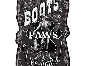nº 17 pour Women and Dog t-shirt design that is vintage and western themed par DepartmentS