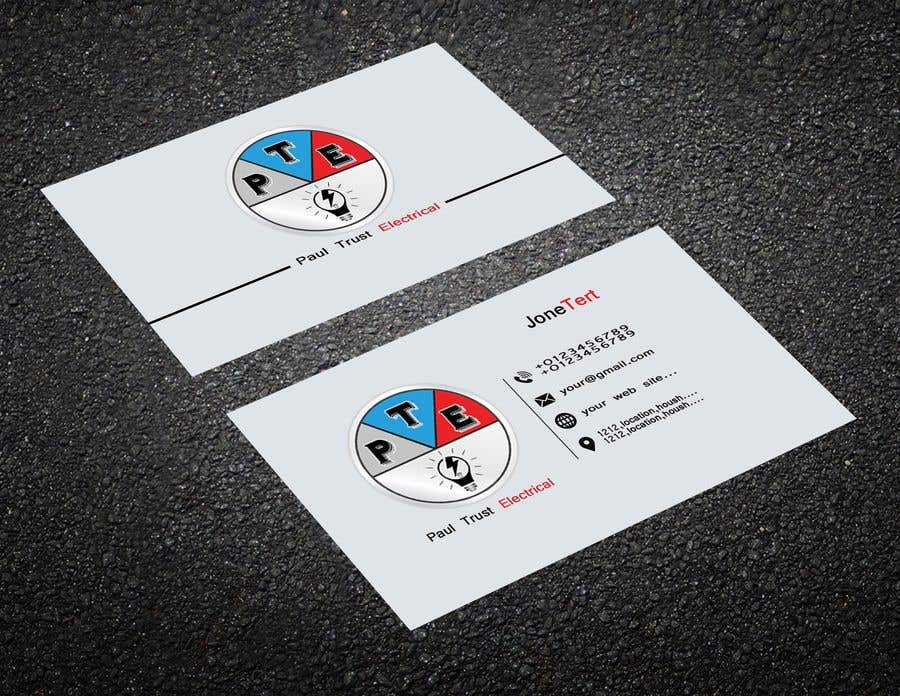 Entry #128 by whid1 for Design some Business Cards For an Electrical ...