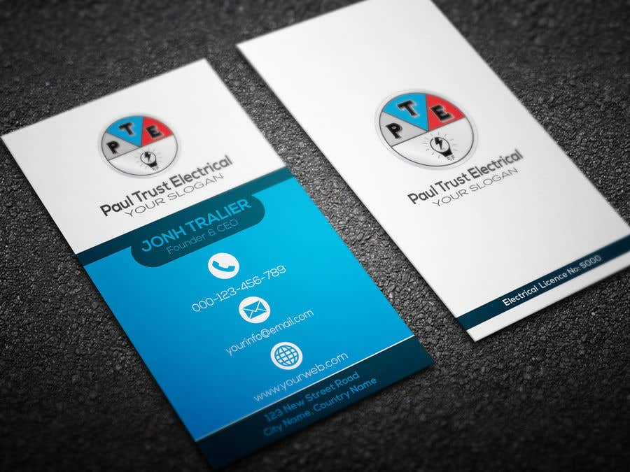 Entry #77 by khansatej1 for Design some Business Cards For an ...