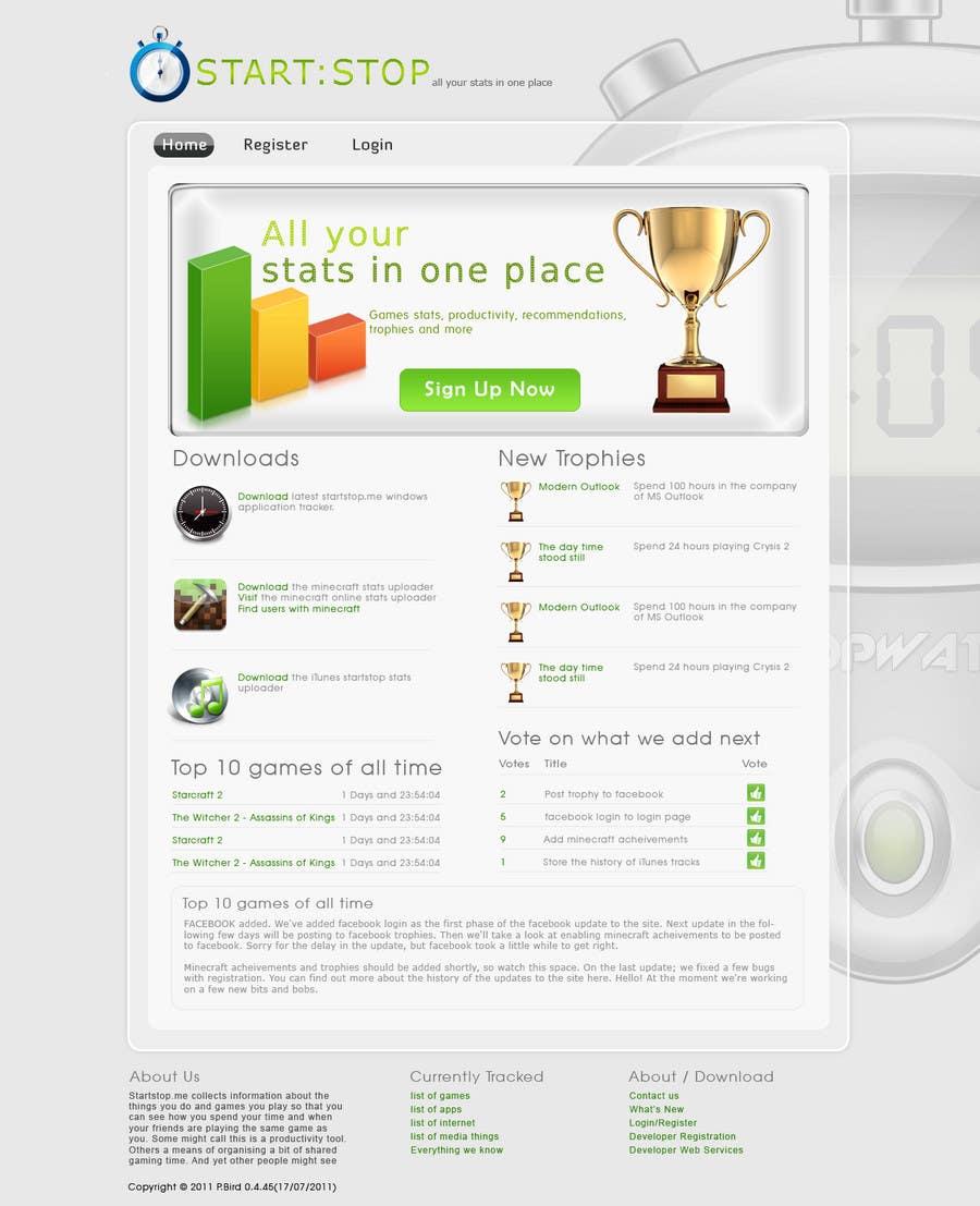 Bài tham dự cuộc thi #27 cho Website Design for startstop.me