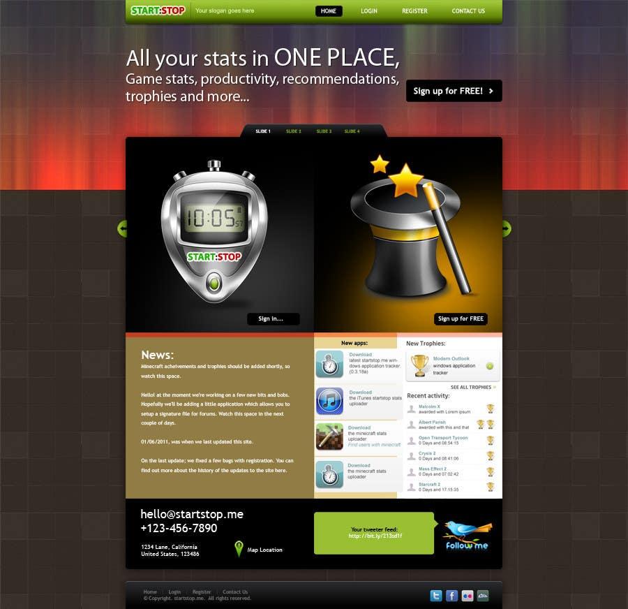 Penyertaan Peraduan #8 untuk Website Design for startstop.me