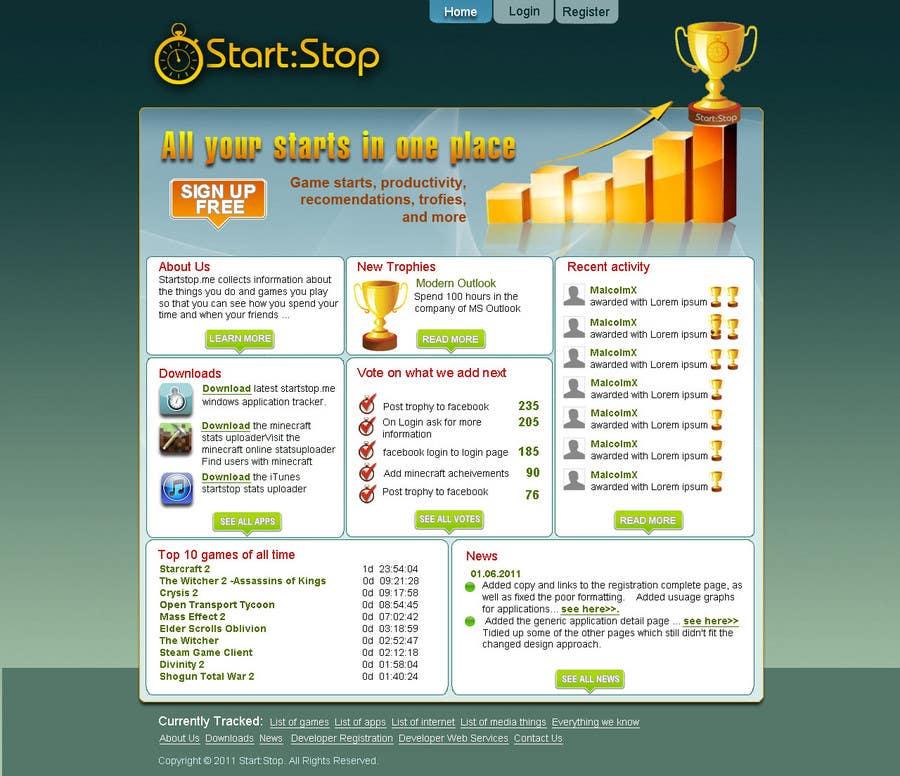 Bài tham dự cuộc thi #                                        17                                      cho                                         Website Design for startstop.me
