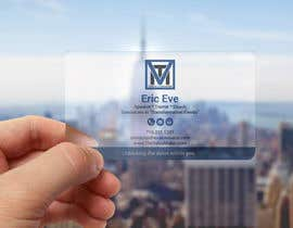 #94 for Design ONE-SIDED Business Cards for Clear Plastic by smartghart