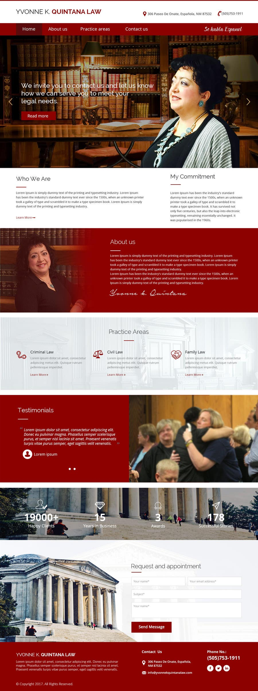Contest Entry #22 for Design a Website Mock up for attorney