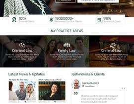 nº 15 pour Design a Website Mock up for attorney par ByteZappers