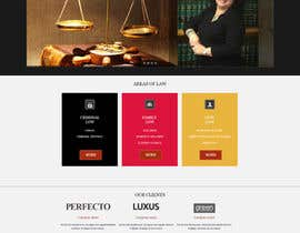 nº 7 pour Design a Website Mock up for attorney par JohnyCode