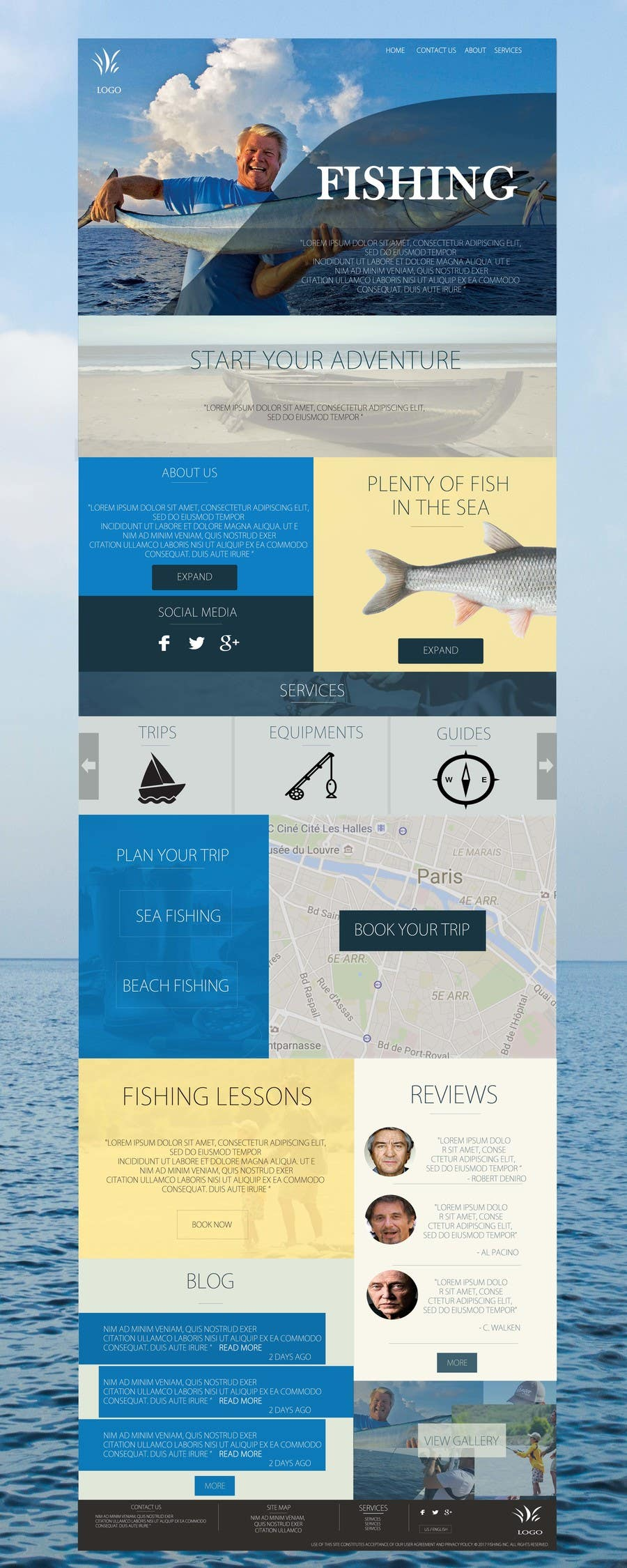Contest Entry #23 for Design a Website Template with a Fishing Theme