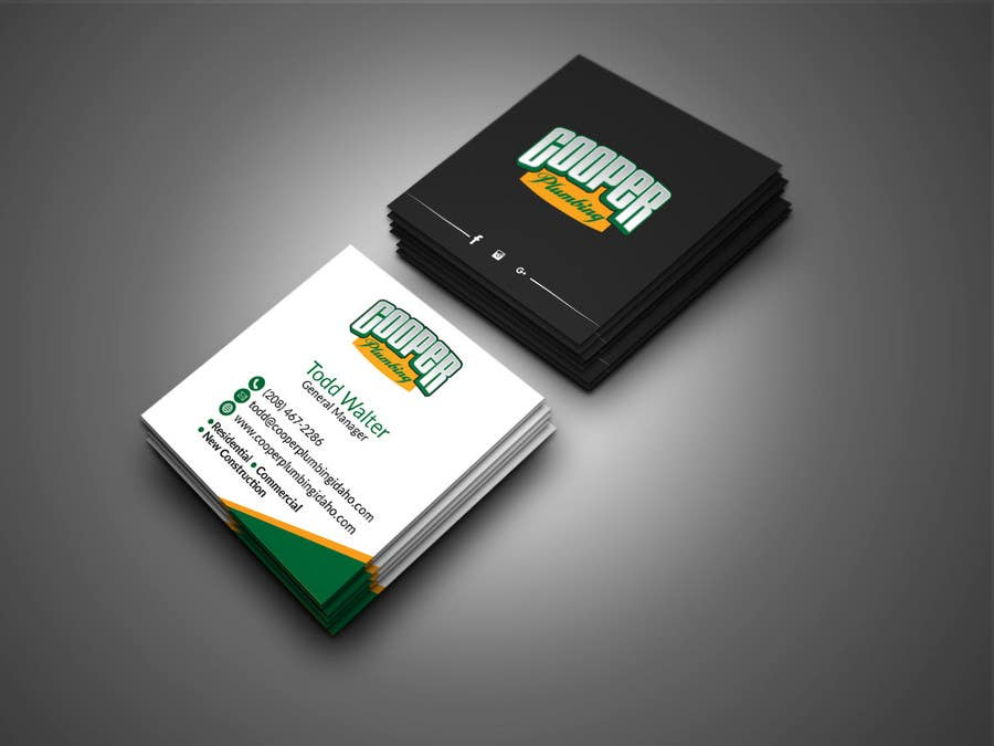 Entry 67 By Sanjoypl15 For Cooper Plumbing Business Cards And