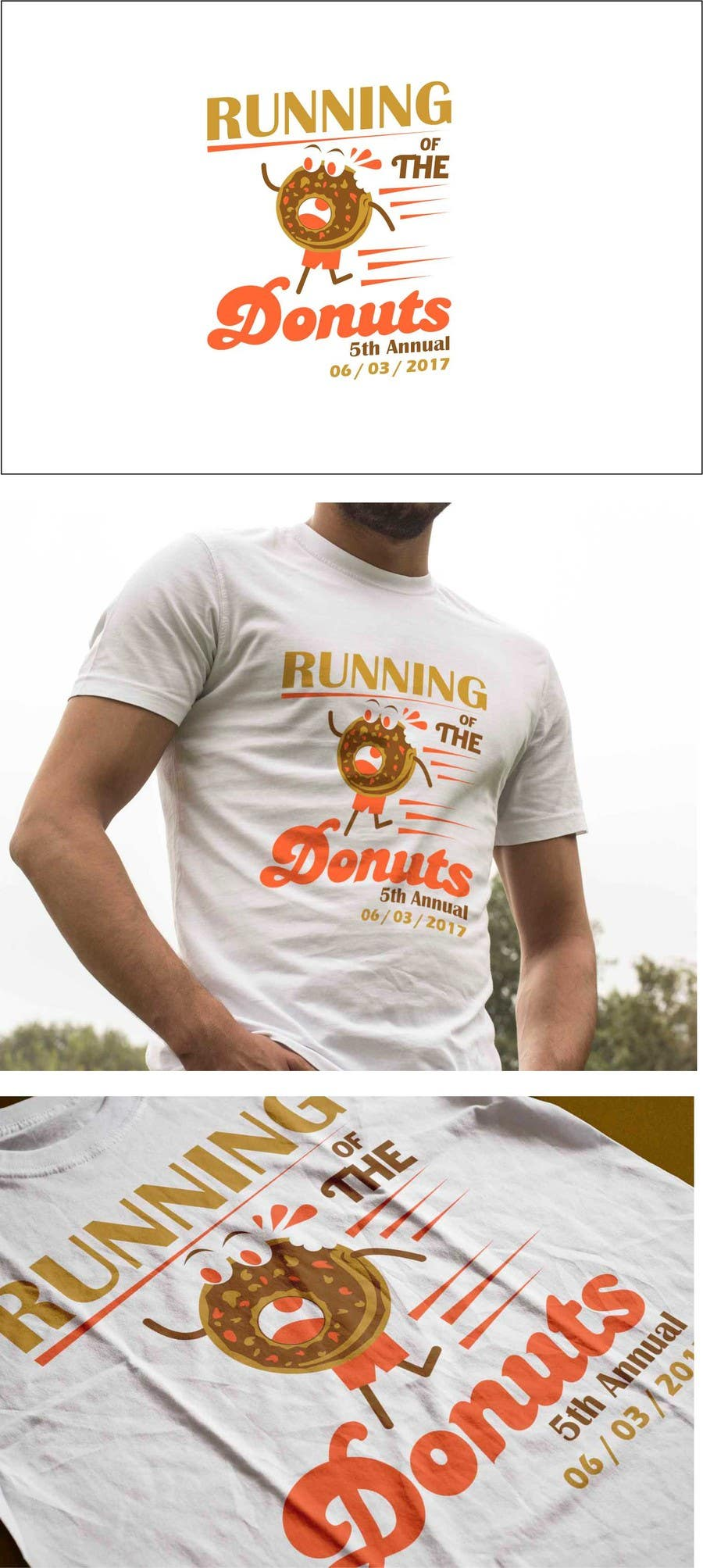 Proposition n°10 du concours Design a T-shirt for the 5th Annual Running of the Donuts