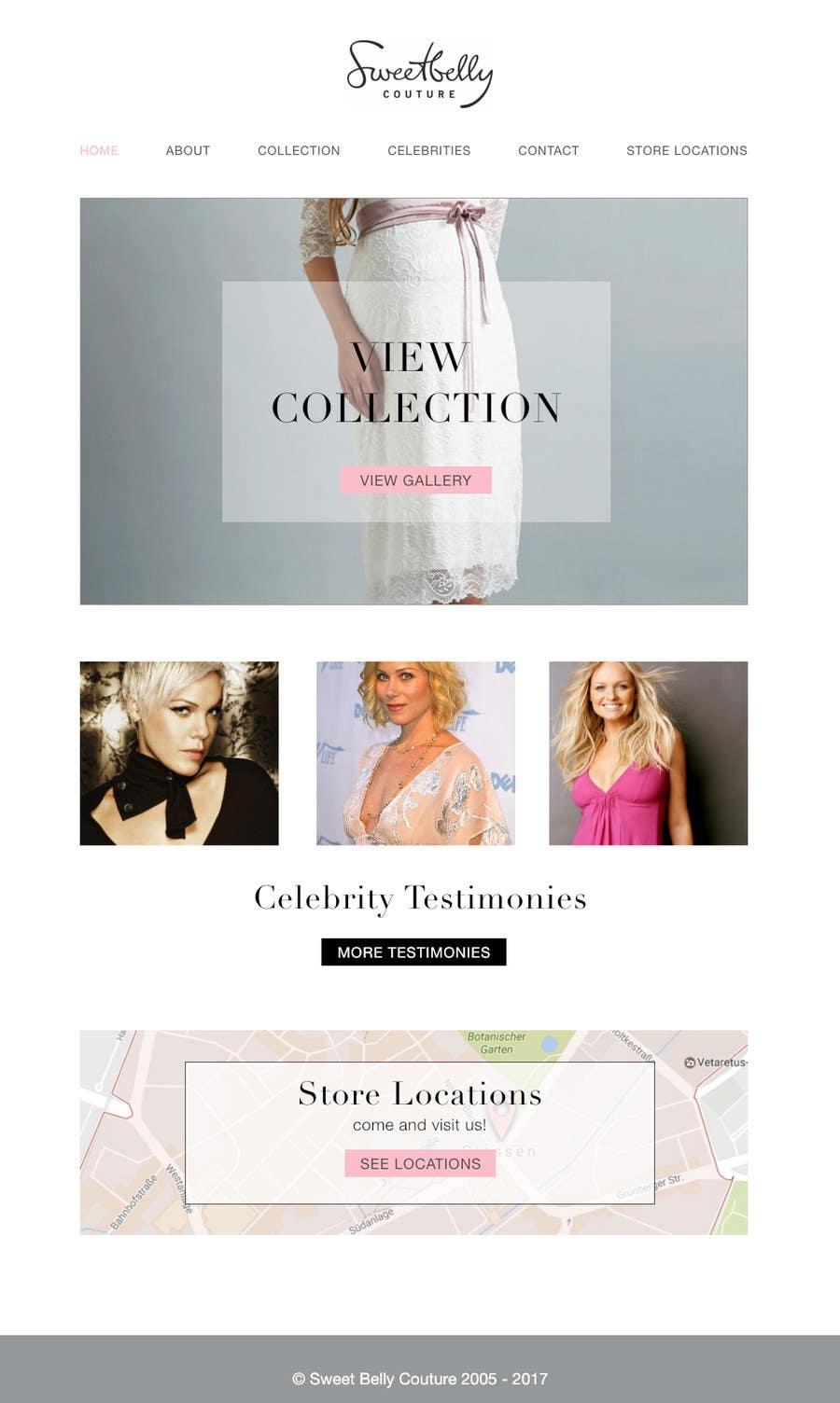 Proposition n°29 du concours Create temporary Website (Fashion), urgent