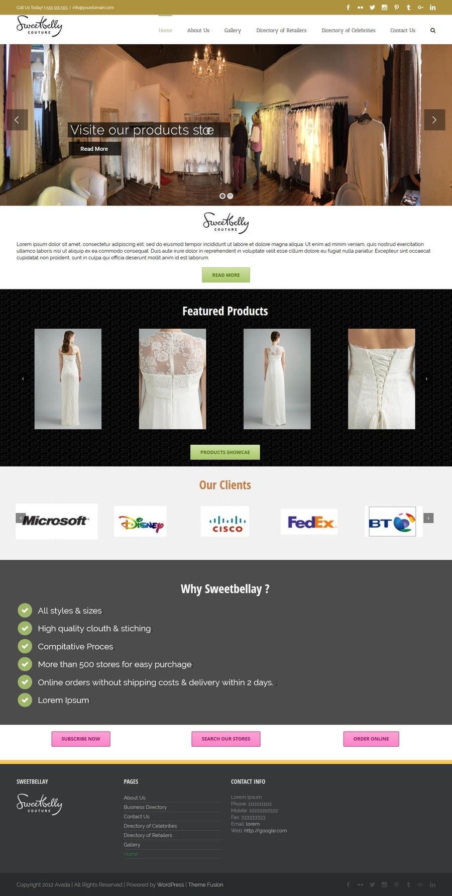 Proposition n°31 du concours Create temporary Website (Fashion), urgent