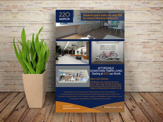 entry 119 by ashraful102 for create marketing flyer to for future