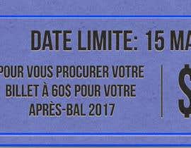 nº 13 pour Design a Facebook image / Ticket sale par princessbadal