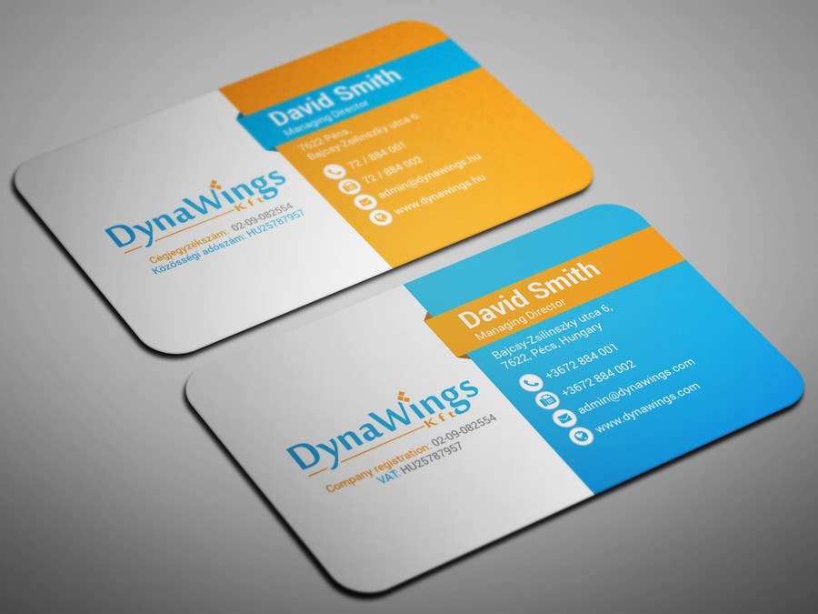 Proposition n°12 du concours Design Business Card for DynaWings Kft