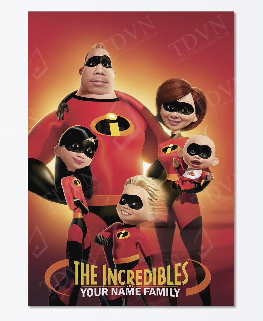 Proposition n°14 du concours Photoshop a family picture for me  - The Incredibles