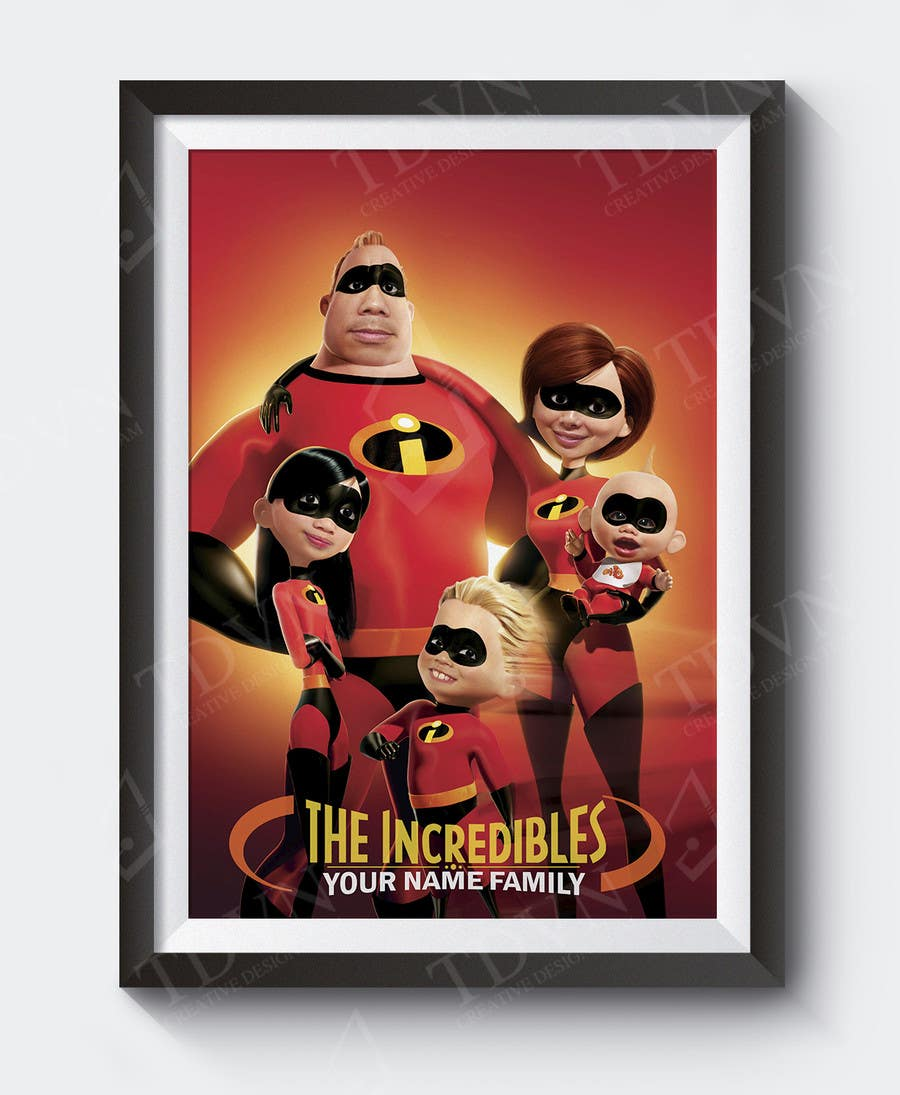 Proposition n°15 du concours Photoshop a family picture for me  - The Incredibles