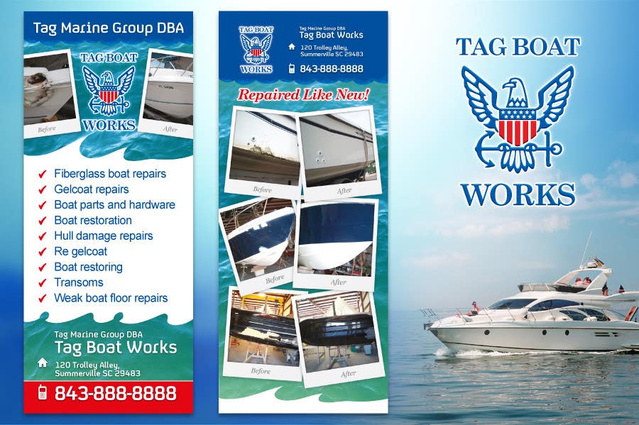 #2 for Graphic Design for Tag Marine Group DBA Tag Boat Works by solidussnake