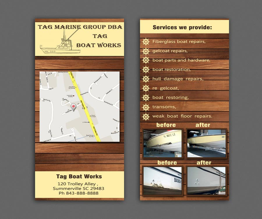 #5 for Graphic Design for Tag Marine Group DBA Tag Boat Works by Doubletstudio