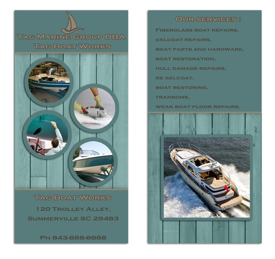 #21 for Graphic Design for Tag Marine Group DBA Tag Boat Works by Doubletstudio