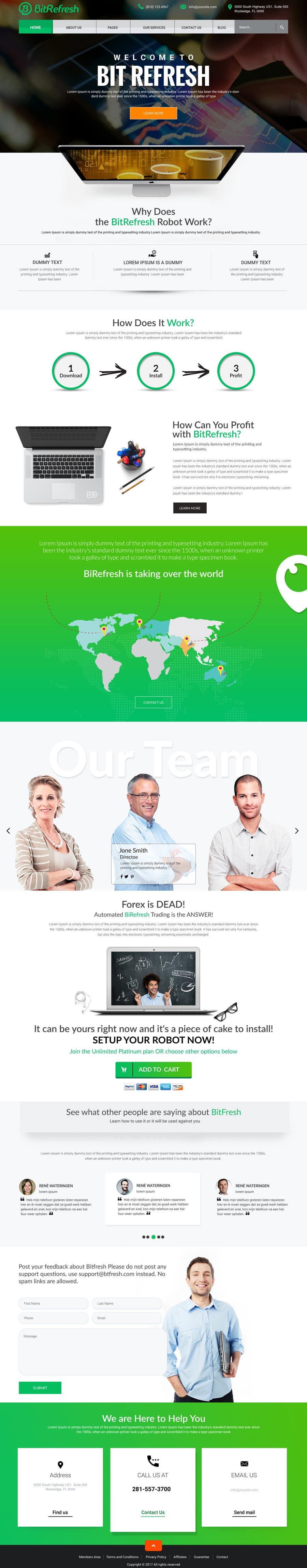 Proposition n°11 du concours Design a new Website