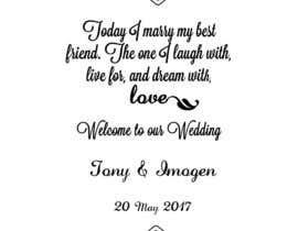 Nro 19 kilpailuun Wedding Welcome Sign käyttäjältä sonalfriends86