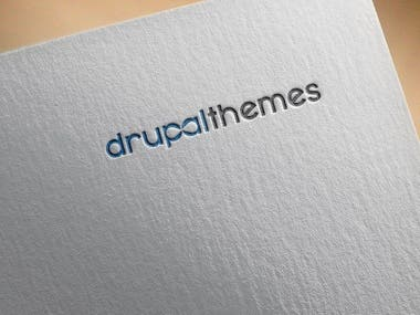 """logo for a website selling Drupal themes. All themes will be free as in freedom (but not in price) and licensed under the GNU GPL v3 and later. The main """"selling point"""" of the themes are quality and freedom."""