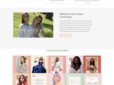 The CATENA vision is all about creating a community of supportive, fearless young women who build each other up and celebrate one another's success. Acting as the link between women graduating school or university and making their first steps into the workforce, this chain unites ambitious females and young entrepreneurs.