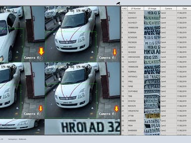 It is car plate recognition project. About 60k car plates were used for training the model. Its accuracy is above 94% and GUI is based on QT5.12